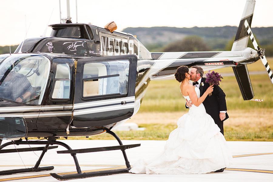 На свадьбу на вертолёте